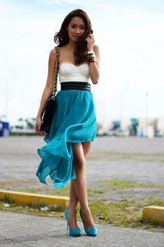 Hermoso color azul