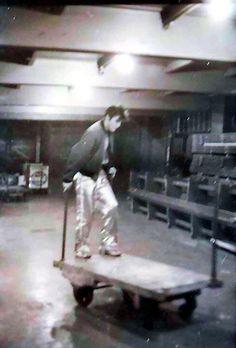 Elvis 221. Rare candid of Elvis Presley backstage at Maple Leaf Gardens, Canada, April 2, 1957