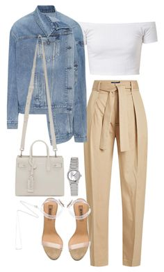 """""""Untitled #4548"""" by theeuropeancloset ❤ liked on Polyvore featuring Polo Ralph Lauren, Balenciaga, adidas, Yves Saint Laurent, Casio and Estella Bartlett"""