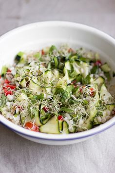 Summer Salad with Alfafa Sprouts