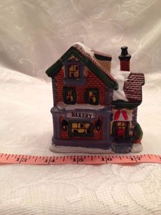 """Christmas Village Bakery 3 1/2"""" Wide By 4"""" Tall Ceramic"""