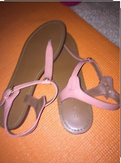 d1855065a Coach Leather Women s Sandals Size Pre-owned