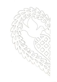 classic scherensnitte dove and heart  inkspired musings: International Day of Peace