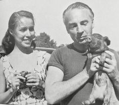 George Balanchine with ballerina and fourth wife Maria Tallchief ca. 1946.