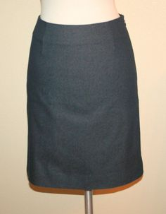 Moschino Cheap And Chic Blue Lightweight Stretch Denim Pencil Skirt   #Moschino #StraightPencil