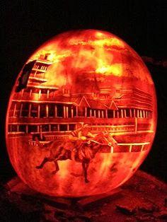 : Louisville's Iroquois Park hosts the Jack O'Lantern Spectacular - Churchill Downs Pumpkin