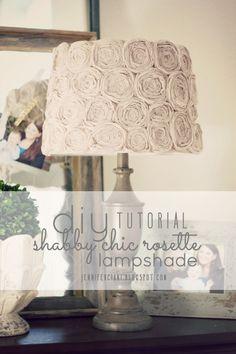 Diy Shabby Chic Rosette Lamp Shade - Tutorial (Simply Ciani)
