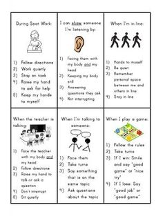 Social Skills Reminder Cards |