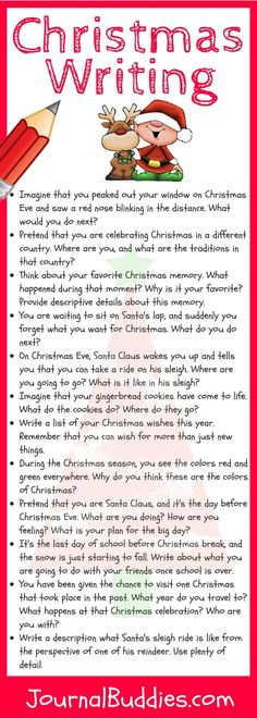 Christmas Writing — These 5 fun activities and 12 fabulous writing prompts will encourage your students to put their writing skills to good use while also helping them think critically and creatively.