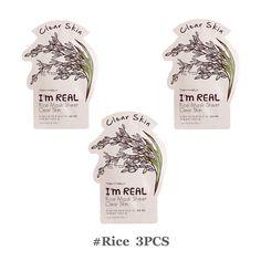 Tonymoly I'm Real Mask Sheet Rice Clear Skin Care Korea Cosmetics-3PCS #TONYMOLY