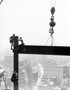 That 1932 Shot Of Construction Workers Eating Lunch On A