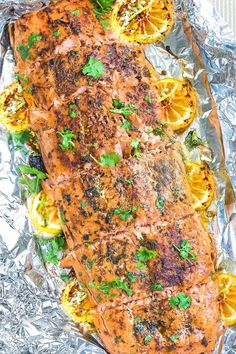 Honey Lemon Salmon - the perfect easy recipe for weeknights. Best of all, baked on one sheet pan in less than 30 minutes - delicious & bursting with flavors