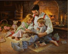 Night Time Stories Art by Alfredo Rodriguez (American, b. Poor Children, Working With Children, Pin Up Girl Vintage, Mind Relaxation, Tea And Books, Christian Religions, Book People, Kids Reading, Reading Books