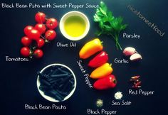colourful recipe black bean & yellow & red sweet pepper