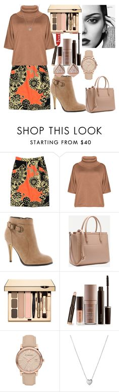 """Untitled #590"" by domla ❤ liked on Polyvore featuring TIBI, Isolde Roth, Michael Antonio, Laura Mercier, Burberry, Links of London, FOSSIL and plus size clothing"