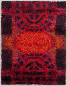 "Rya rug ""Ritva Puotila"", Finland, 1963 There are two of these on sale for 400 and 460 euros Textiles, Textile Patterns, Textile Art, Rya Rug, Latch Hook Rugs, Mid Century Art, Arte Popular, Magic Carpet, Modern Artists"