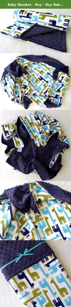 Baby Blanket - Boy - Boy Baby Blanket - Minky Baby Blanket - Giraffe Baby Blanket - Navy Blue - Jade Green - Blue Baby Blanket - Your Baby Boy - Giraffes -. This boy baby blanket is the softest, most cuddly minky baby blanket your baby boy will ever snuggle up with! The soothing feel of this giraffe baby blanket makes a perfect gift, or the perfect security blanket for your own little one. Soft and fuzzy front and back make it ideal for little arms to carry and snuggling up with anywhere…