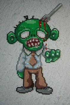 perler bead zombie