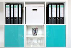 Regalteiler für Ikea Kallax Regal im Büro