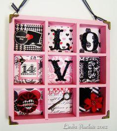LOVE shadowbox