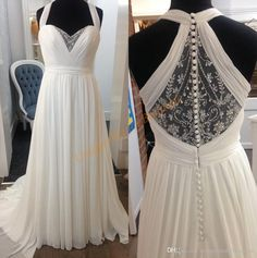 Wedding Dresses For Pregnant Women 2017 With Halter Neck And Empire Waist Real Images Chiffon Maternity Bridal Gowns With Beading Back Cheap A Line Wedding Dresses Chiffon A Line Wedding Dress From Uniquebridalboutique, $128.15| Dhgate.Com