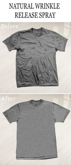 DIY Wrinkle Release spray for wrinkle-free clothes
