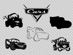 Stencil Logo, Stencil Art, Disney Sleeve Tattoos, Disney Tattoos, Car Silhouette, Lightening Mcqueen, Car Tattoos, Crochet Purse Patterns, Vinyl Crafts