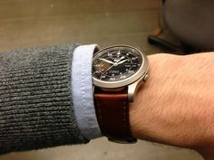 Seiko 5 Custom a different look with leather strap