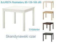 IKEA Stół BJURSTA rozkładany 90-129-168x90 kolory