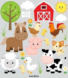 Party Animals, Farm Animal Party, Farm Animal Crafts, Baby Farm Animals, Farm Animal Birthday, Barnyard Party, Farm Birthday, Farm Party, Birthday Party Themes