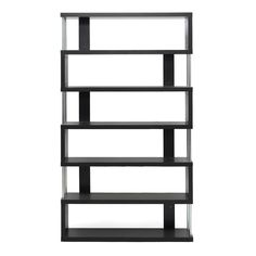 Baxton Studio Barnes Dark Brown Six-Shelf Modern Bookcase for the best deal price of affordable modern furniture in Chicago.