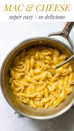 Super easy macaroni and cheese for one. Simple ingredients and ready in about 15 minutes. Cheesy Macaroni And Cheese Recipe, Stovetop Mac And Cheese, Macaroni Recipes, Pasta Dinner Recipes, Yummy Pasta Recipes, Top Recipes, Easy Recipes, Light Recipes, Delicious Recipes