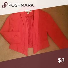 Blazer Short Orange Blazer Forever 21 Jackets & Coats Blazers