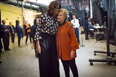Barack and Michelle Obama have both emphatically denied that the first lady took a swipe at Hillary Clinton during the 2008 election Tim Robbins, Hillary Rodham Clinton, Presidential Inauguration, Michael Moore, Barack And Michelle, Pro Trump, Barack Obama, Donald Trump, Kimono Top