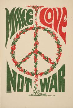 Weisser ~ artist | Tarot Press ~ printer Make love not war