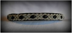Double Path, Sami bracelet, Pewter, Reindeer Leather, only $65.00  www.NomadicArtistry.com