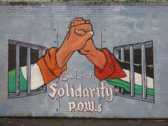 IRA and Palestinian solidarity mural, Belfast, Northern Ireland Belfast Murals, Northern Ireland Troubles, Irish Republican Army, Spray Can Art, Belfast Ireland, Life Touch, Irish Eyes, Irish Celtic, A Level Art