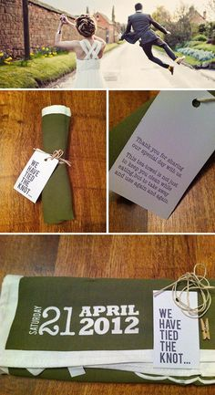 Teatowel napkins - to use at the wedding and afterwards