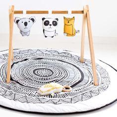 Stunning originally designed. Wakul Nursery Play Mat in a monochrome colour scheme. Designed using hand drawn art from Lara Went from Yukul Art. - Generous