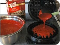 Waffle Red Velvet Cake | 25 Things You Didn't Know You Could Cook On A Waffle Iron