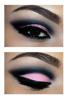 really cute pink and black makeup... I'm not really n2 bright make up but I think I will try this