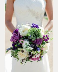 Too Pretty To Miss Purple Wedding Bouquets ~ moncheribridals.com Several beautiful ones at this link!