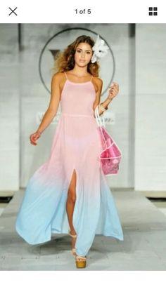WILDFOX Swim I Am The Ocean Gigi Maxi Dress Coverup Tie Dye Dress/FINAL OFFER    eBay