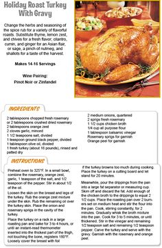 Roast Turkey with Gravy Family Recipes, Family Meals, Stew Leonard's, First Thanksgiving, Spice Rub, Recipe Details, Roasted Turkey, Christmas Recipes, Cilantro