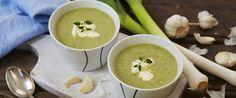 Purresuppe med poteter og timian