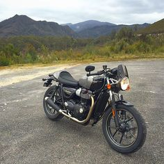 The new Triumph Street Cup in the Tasmanian highlands. Incredible day of riding on awesome roads. Tassie you've blown me away, I'll be coming back again soon for more!  #tasmania #twowheels #motorcycle #triumph