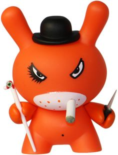 'Clockwork Orange' by Frank Kozik is part of the Series 4 #dunny released by Kidrobot.