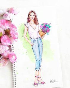 #art #fashionillustration #sketch #summer #floral #ootd