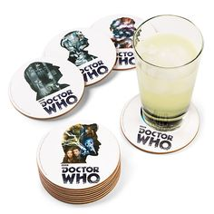 Doctor Who 12 Doctor Coaster Set #DOCTORWHO #TARDIS