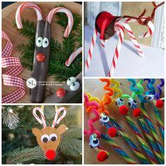 candy cane reindeer ideas